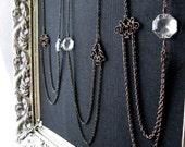 sparkle. sun catcher necklace. geometric prism. antique filigree. last one. one-of-a-kind vintage chandelier prism necklace by baltica