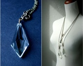 geometric jewelry. faceted prism pendant. reclaimed necklace by baltica