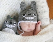 Crochet Totoro Hat (Newborn) Made To Order