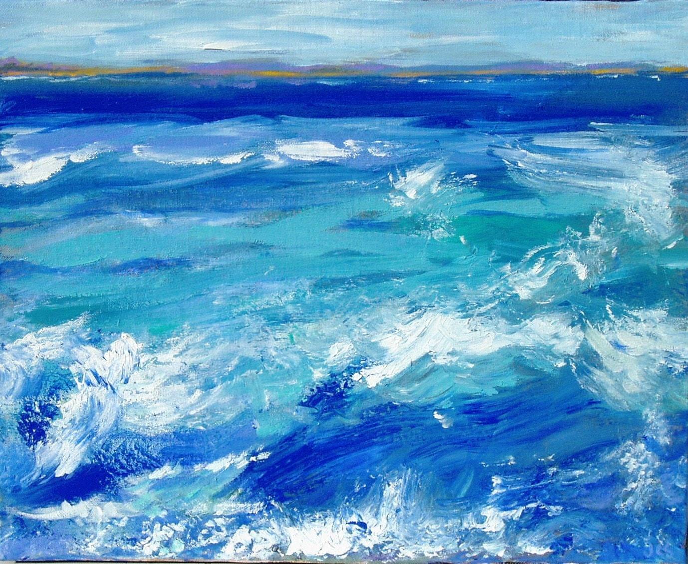 Original Seascape Ocean California Art
