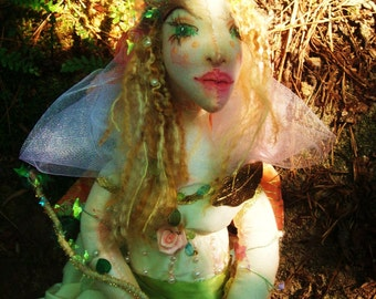 OOAK Fairy, Cloth Art Doll, Titania