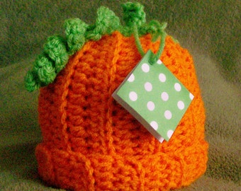 Pumpkin Hat, Crochet Pumpkin Hat, Fall Pumpkin Hat, Pumpkin Photo Prop, Baby Pumpkin Hat, CbbCreations, Thanksgiving Pumpkin Hat