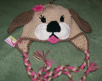 Puppy Hat Crocheted /Photo Prop/ Newborn to 4T/cbbcreations
