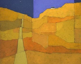 European Landscape print giclee, fine art, square print