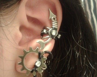 Galaxy Steampunk Ear Cuff