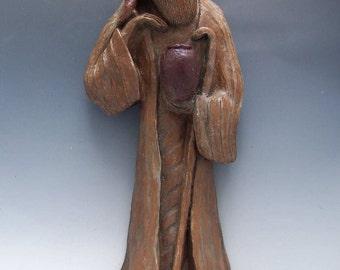 Handmade Lao-Tzu Statue: Taoist Sage