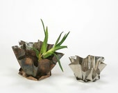Staniless Steel Small Flower Pot -Eco friendly decorations for your home or garden.