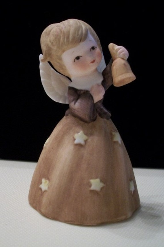 Porcelain Angel Bell by Enesco, from Nanas Vintage Shop on Etsy