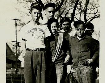 Vintage Photo - Group of School Boys - 1948 - Beardstown Illinois - Black and White