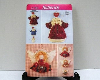 Decorative Angels - Hickory Stick and Co - Butterick 4796 - 1997 - Wall Hangings - Decorations