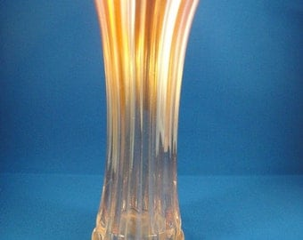 Carnival Glass Vase Corinth Pattern Marigold Color