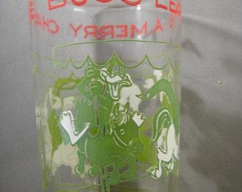 Bugs Bunny Christmas Cup Welchs Jam Glass 1974