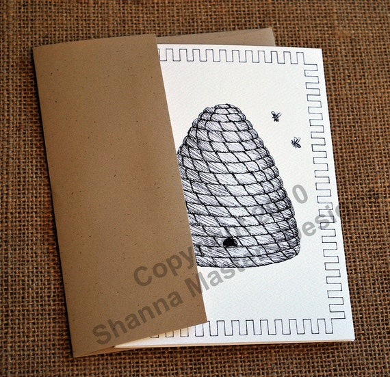 Set of Eight Beehive Note Cards