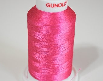 Polyester  Machine  Embroidery Thread | 61109 Pink | Hot Pink