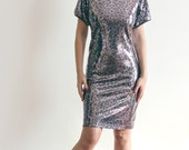 SALE - Animal Print Sequined Dress - Ready to Ship