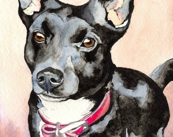 Custom Pet Portrait - Original Watercolour - Commissioned Painting from Your Photographs