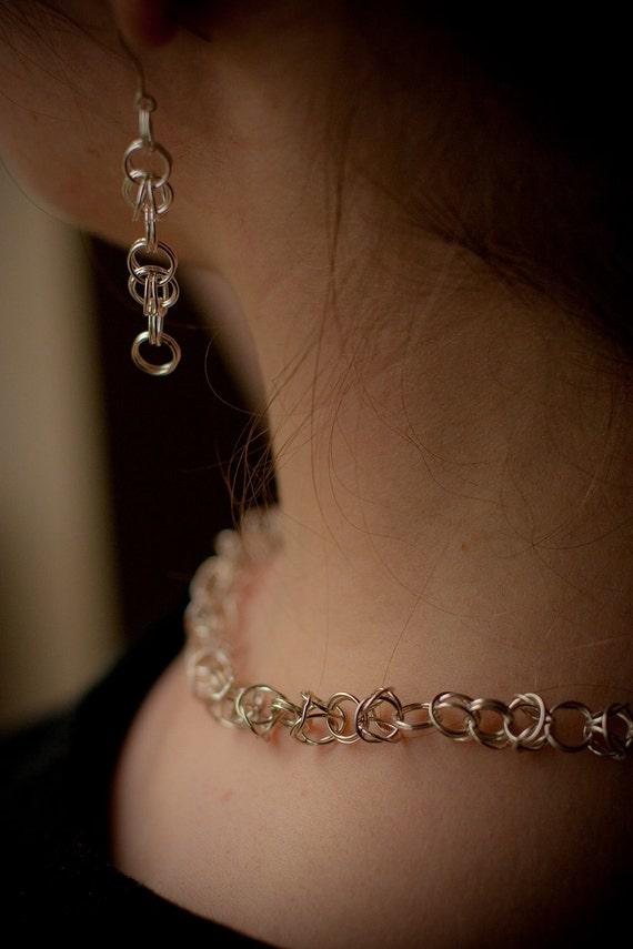 Clip-on Silver earrings: Handmade in Sterling Silver