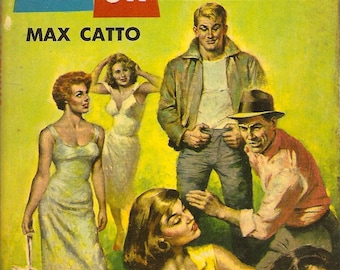 Max Catto All or Nothing 1956 PB 1st Great Cover Art