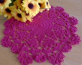 Clearance SALE 50% OFF * Round Doily in Crimson (skr18)