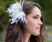 Bridal Hair Accessories, Feather hair piece- The Josia