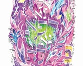 Healing in Purple (Matted Print)