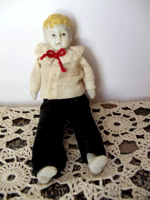 Antique Boy China Doll - German - Early 1900s - Doll Collectors