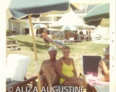 Digital Scan // Vintage // Color Photo // Couple at the Pool     0742