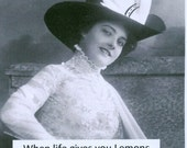Vintage photo magnet When Life gives you lemons...