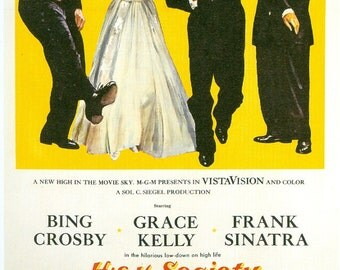 Movie Magnet High Society Crosby Sinatra Kelly