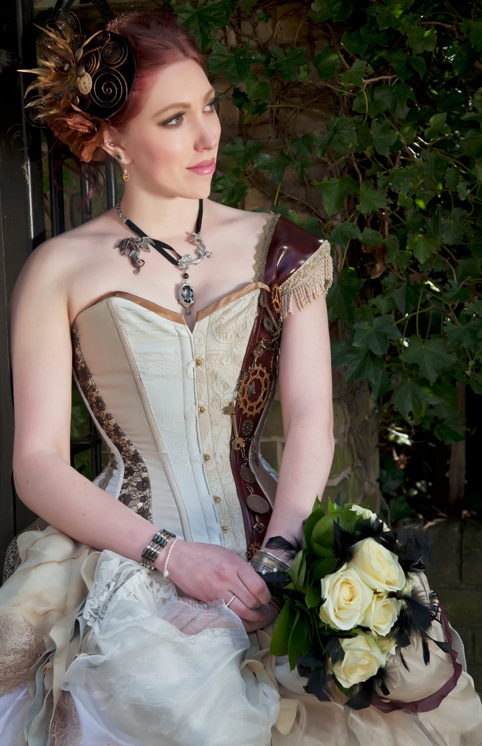 Reserved Steampunk Inspired Wedding Dress For Cherry Naberrie