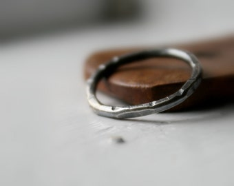 Handmade Unisex Distressed Sterling Silver Ring, Sterling Silver Band, Thick Men Sterling Silver Ring, Unique Wedding Band, Friendship Band