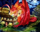 Dragon print - 8 x 10 inch print