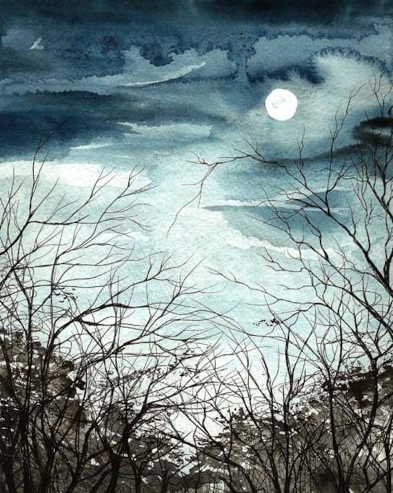 Moonlight - Enchanted Moon - 8 x 10 inch print