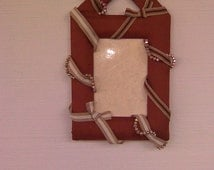SALE - Handmade Emellished  Woody Theme 4R Picture Wall Frame.