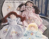 Ribbon Embroidery Patterns - Bucilla Transfers Book, includes Soft Doll and Dress Pattern