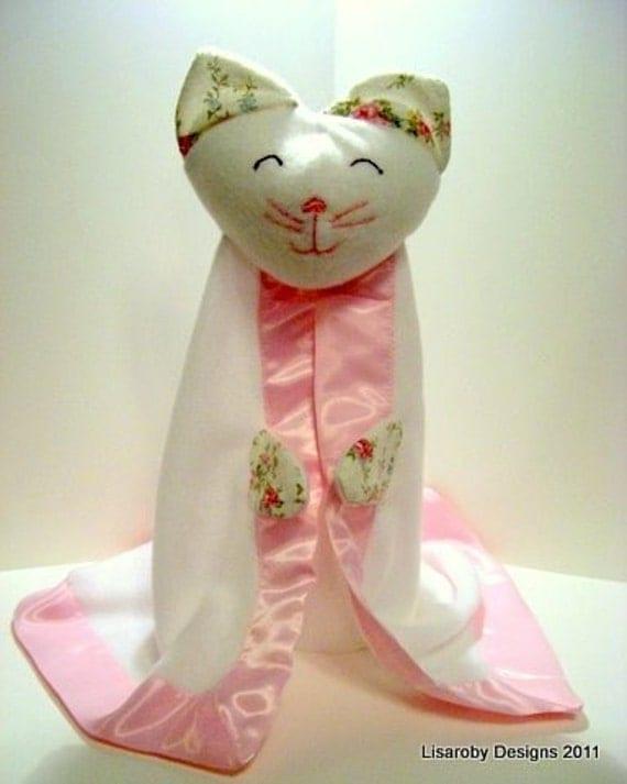 Custom - Baby Girl Kitty Security Blanket