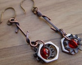 Steampunk Urban Chic Dangle Earrings