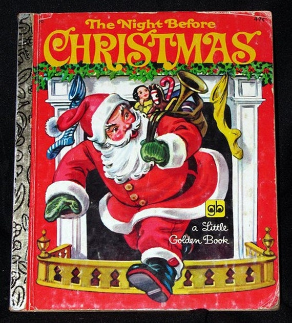 vintage 1976, The Night Before Christmas, Little Golden Book 20
