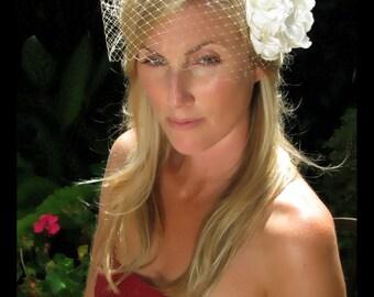 9 inch  bandeau style birdcage blusher veil, wedding veil, bridal veil