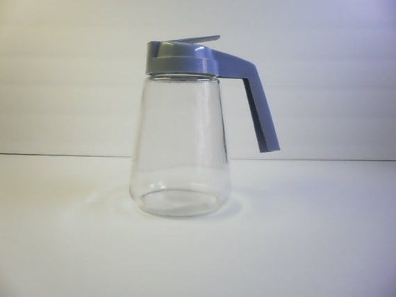 Vintage Gemco Glass Diner Style Maple Syrup Dispenser