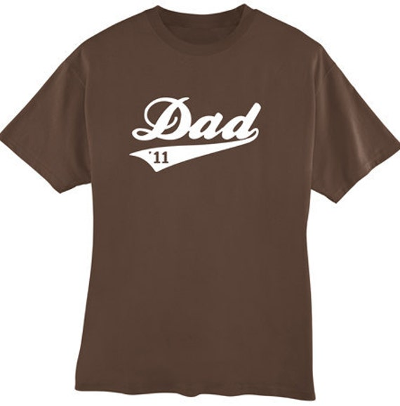 Mens custom personalized Baseball Swoop Shirt - Great Father's Day gift for Dad, Uncle, Grandpa, Papa