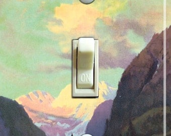 This Is ALASKA vintage poster Switch Plate (single, double)  ***FREE SHIPPING***