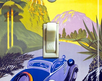 Visit GREECE Vintage Travel Poster Switch Plate (single)  ***FREE SHIPPING***