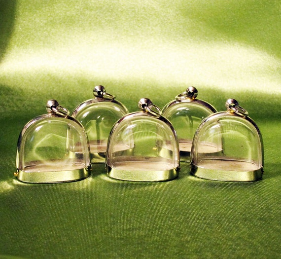 5 New Style Clear Display Dome Pendant Cases for Jewels, Mementos & Special Art - ONLY 5 DOLLARS EACH