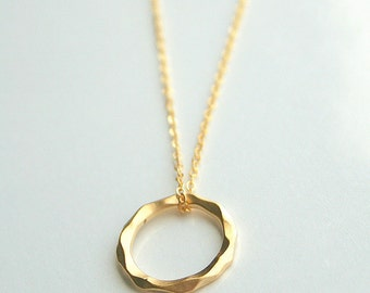 Gold or Silver, circle, eternity, karma, necklace - KARMA (Gold or Silver)