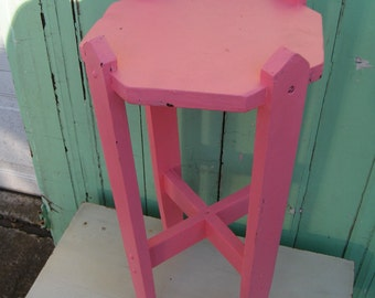 Upcycled Vintage Table in Cottage Pink