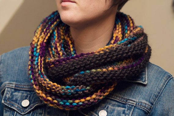 FALL SALE-Women's infinity scarf or cowl hand knit wool-