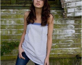 Country Chic Lace up Corset Top One of a Kind