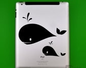 iPad - Whale pod (Laptop Decal Removable Vinyl Laptop Sticker Computer Decal PC Apple Macbook Mac Geekery Wall Sticker Moustache)