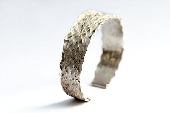 Sterling silver bracelet, unique jewelry, modern design